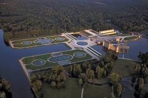 Vue aérienne du Château de Chantilly