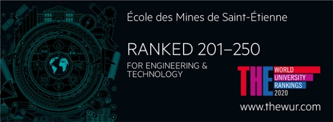 Mines Saint-Etienne dans le classement THE 2019 « by subject for Engineering & Technology »