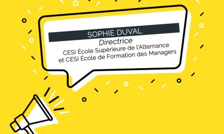 Sophie Duval est nommée directrice de CESI École Supérieure de l'Alternance et CESI École de Formation des Managers