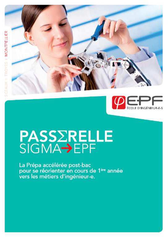 Rentrée décalée : L'EPF-Ecole d'ingénieur-e-s ouvre les inscriptions de sa passerelle SIGMA !