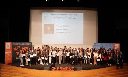Cérémonie de remise des Bourses 2018 de la Fondation du Groupe ESC Clermont : l'ouverture sociale en action.