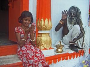 Brahmane et sa petite fille
