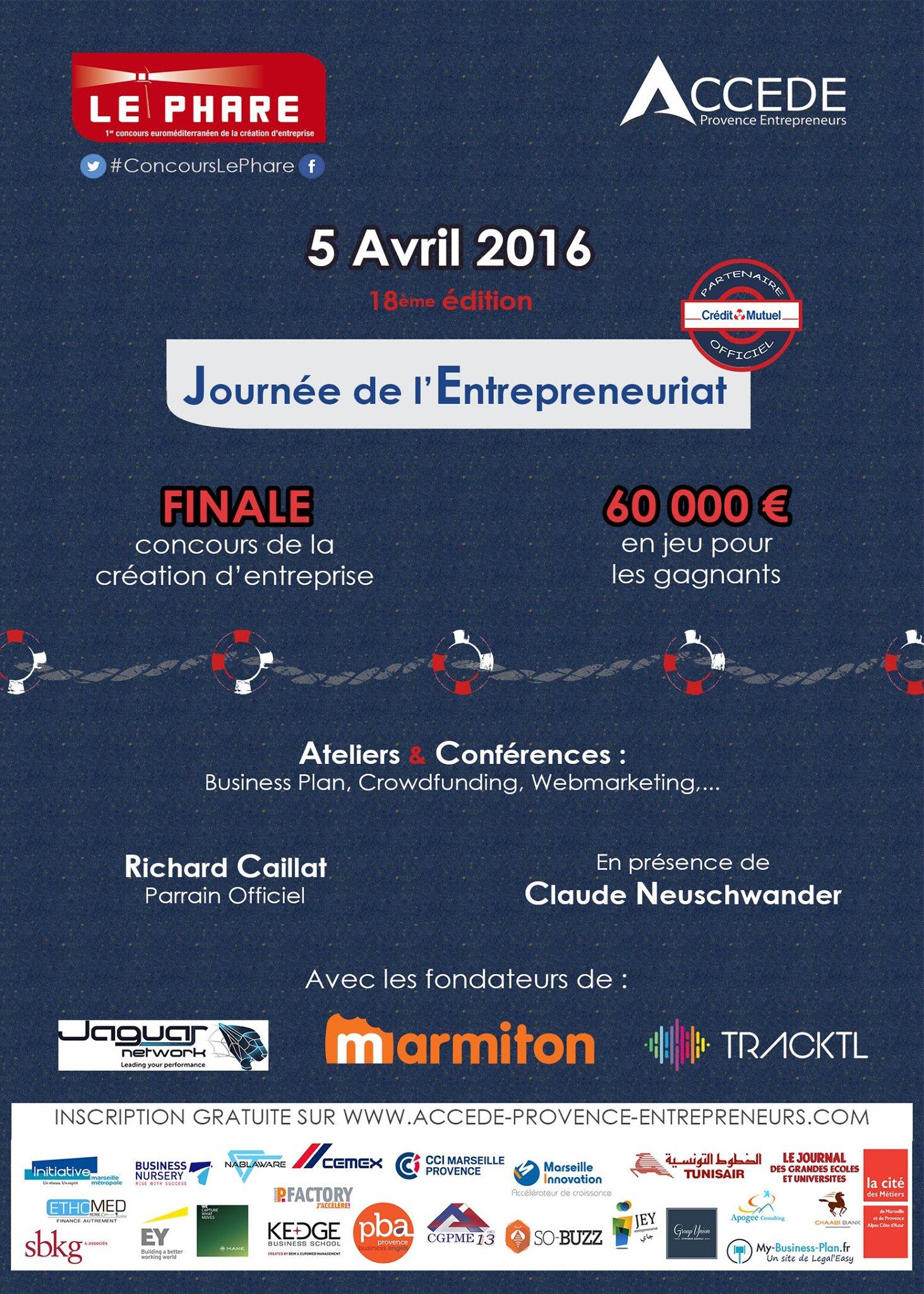 Pour la 18ème année consécutive, ACCEDE Provence Entrepreneurs organise le Phare, 1er concours euro-méditerranéen de la création d'entreprise.
