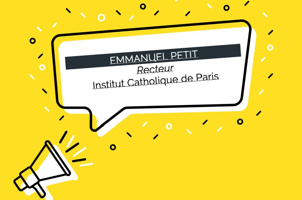 Emmanuel Petit, nouveau Recteur de l'Institut Catholique de Paris