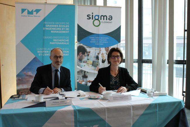 SIGMA Clermont et l'Institut Mines-Télécom renforcent leur coopération en signant une convention de partenariat stratégique