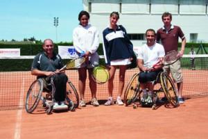 Démonstration de tennis handisport