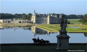 Le Grand Canal du parc historique du Domaine de Chantilly qui accueillera le 19e Trophée des Rois le samedi 28 mai 2011
