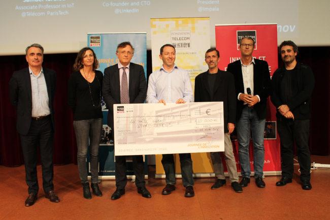 @Télécom ParisTech Smart Pixels, le jury, Yves Poilane et le chèque