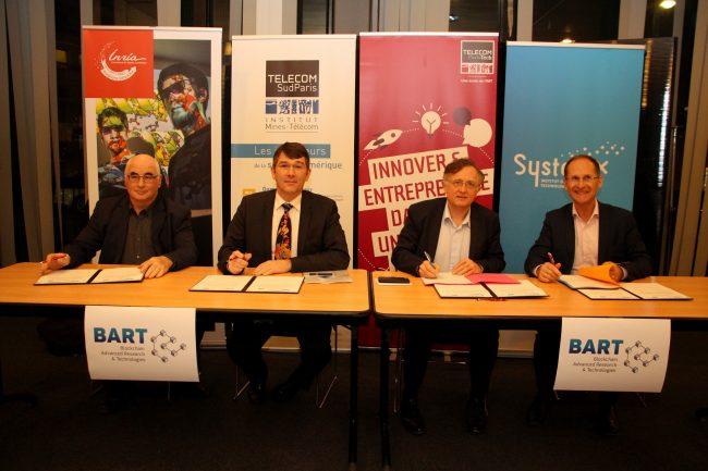Inria, Télécom ParisTech, Télécom SudParis et SystemX signent un accord-cadre pour coordonner leurs efforts de recherche dans le domaine de la Blockchain