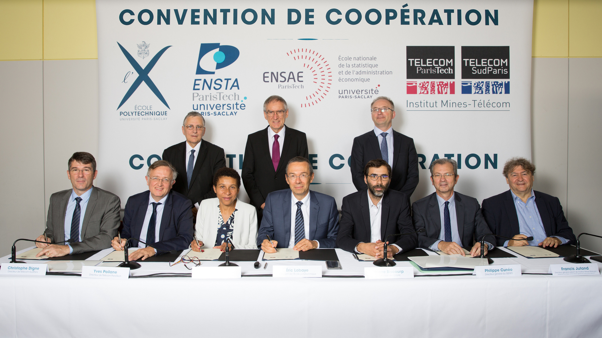Signature de la convention de coopération © École polytechnique - J.Barande