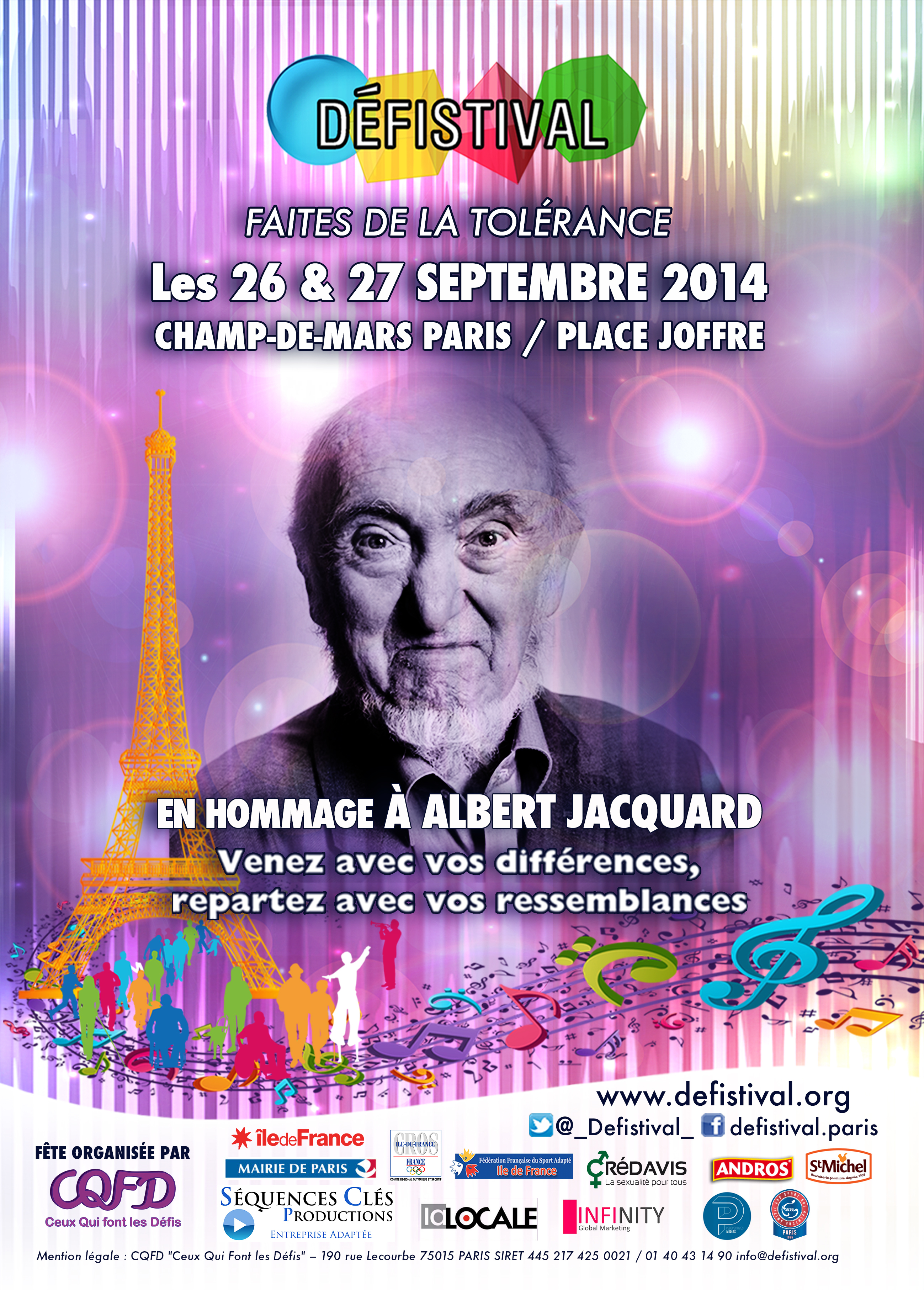 SAVE THE DATE : 11ème DEFISTIVAL : 26 et 27 septembre 2014