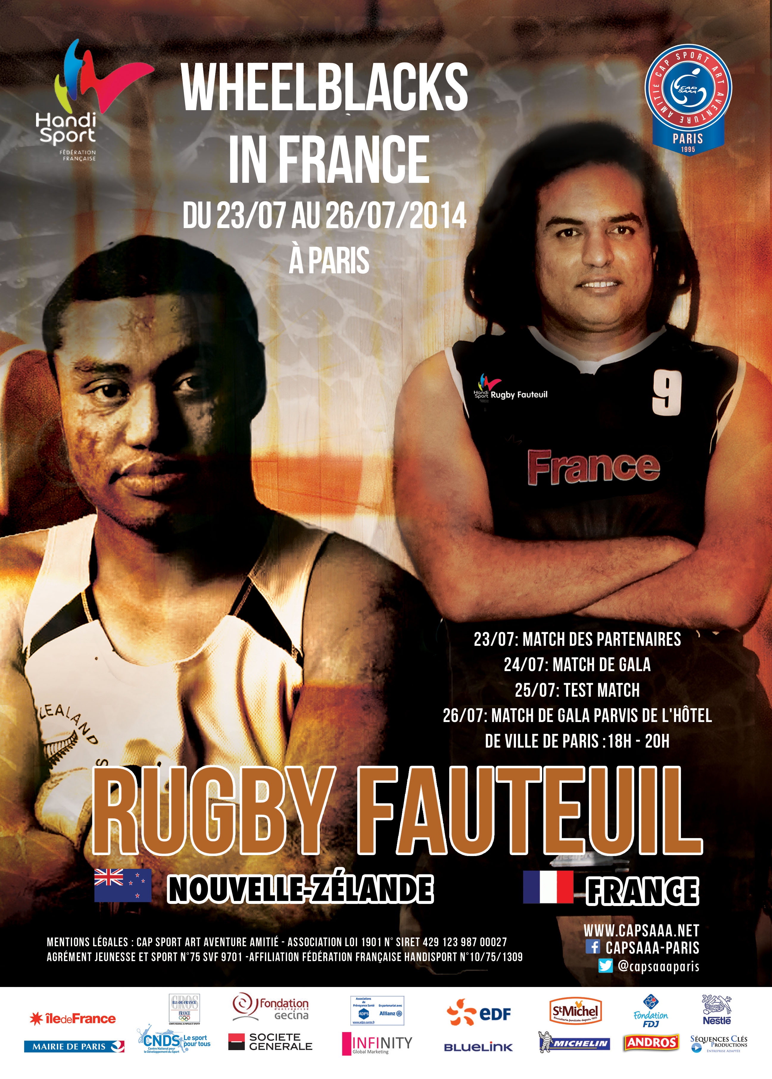Rugby fauteuil : WheelBlacks in France