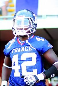 Armel Ahidazan a revêtu  les couleurs de l'équipe de France  cet été lors d'un match contre  l'équipe américaine d'Augustina  College