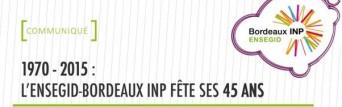 Logo Ecole ENSEGID Bordeaux