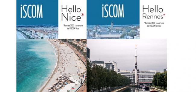 L'ISCOM s'implante à Rennes et à Nice en septembre 2022