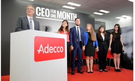 Camille sera le bras droit d'Alain Dehaze, CEO du Groupe Adecco Monde, pendant un mois !