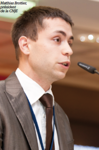 Matthias Brottier, président de la CNJE mandat 2011/2012