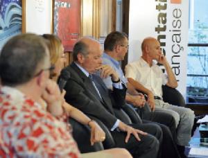 De gauche à droite : F. Rouyer-Gayette, C. de Mazières, J Toubon, F. Maillot et C. Robin