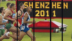 A Shenzen, le 1 500 m, dernière épreuve du décathlon, avec les dieux du stade (c'est le surnom qu'on donne aux décathloniens)