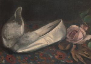 Eva Gonzalès (1849-1883) Les Chaussons blancs, 1879-1880 Huile sur toile, 23 x 32 cm Collection particulière Image © The Metropolitan Museum of Art