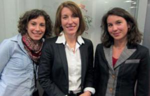 Anne-Sophie Bertaut Responsable Régionale des Ventes, Bessie Kokalis, Directrice Approche Commerciale et Lydia Barbini, Chef de Marque.