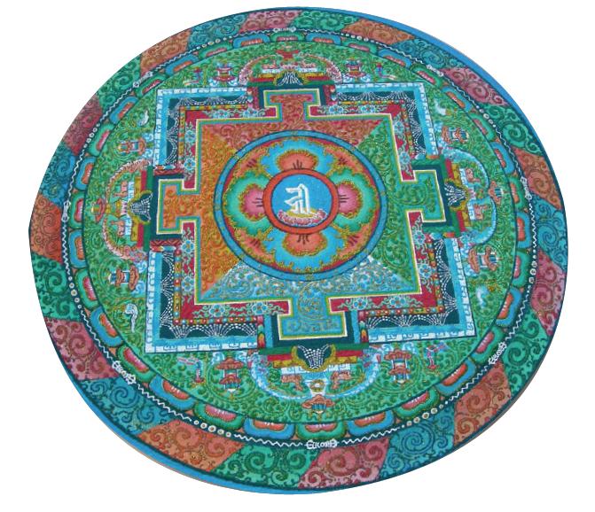 Le mandala éphémère Hommage des hommes à l'incertitude et à une beauté intemporelle