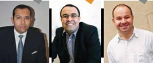 De gauche à droite : (*) Tamym Abdessemed Directeur Académique et de la Recherche (**) Kamel Mnisri Professeur associé au département RH et comportement organisationnel (***) Gérald Duffing, ICN Business School, Directeur du Programme Grande Ecole