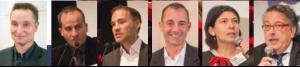 De gauche à droite : Christophe Lasserre, directeur de la rédaction du Journal des Grandes Ecoles & des Universités - Didier Guillot, adjoint au maire à la vie étudiante - Mathieu Gabai, directeur associé de Quatre Vents Frank Dormont, Audencia Nantes - Stéphanie Coquet, EDHEC - Bernard Amsalem, Président de la Fédération Française d'Athlétisme