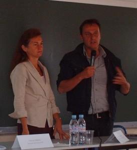 Florence Darmon, Directeur Général de l'ESTP et Patrick Coulombel, Président de la Fondation des Architectes de l'Urgence