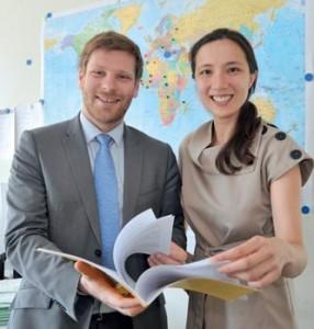 Matthieu Guerlain, Chargé de Mission de l'Inspection Générale des Finances et Misoo Yoon, Déléguée aux Ressources Humaines de l'Inspection Générale des Finances.