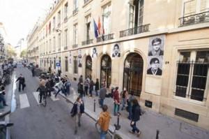L'entrée de Sciences Po par la rue Saint Guillaume