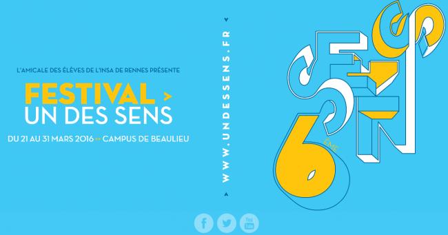 Le Festival Un des Sens revient sur le campus de Rennes I du 21 au 31 Mars pour sa douzième édition !