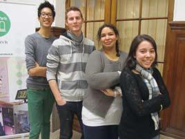 Equipe des tuteurs de Chimie ParisTech: Florence, Sébastien, Thomas et Mélissa