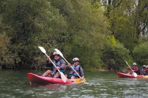 Epreuve canoë, 2ème jour du Raid 2012 à Pont-de-Poitte