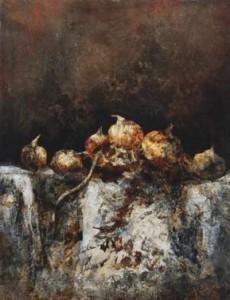 Vie silencieuse, huile sur toile, 116 x 89