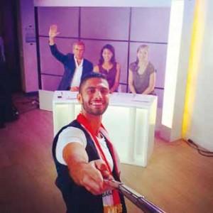 Selfie avec le jury du Tour du Monde de la Chimie !