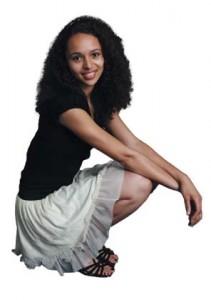 Lætitia Somé, 20 ans, étudiante à l'Université Lyon 2 et porteuse du spectacle « Très bien sans toi mon ange »