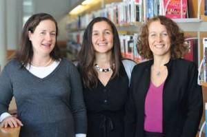 Trois professeures d'Audencia, Camilla Quental, Christine Naschberger et Céline Legrand (de gauche à droite) ont publié en 2012 une étude sur « Le parcours de carrières des femmes cadres : pourquoi est-il si compliqué et comment le faciliter ? »