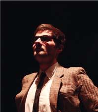 Clément Van Melckebeke, comédien à l'atelier de théâtre de l'Université de Bourgogne
