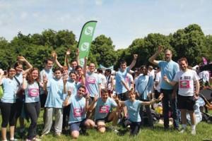 Les coureurs de la FÉDÉEH sur la Course des héros, 16 juin 2013