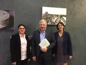 Caroline Defaut DGA Marketing et Business Developpement, Franck Bostyn DG et Céline Davesne DGA des Programmes