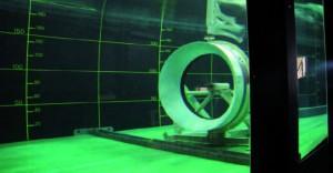 Prototype de turbine a entrainement circonférentiel réalisé et testé au sein de l'institut de Recherche de l'École navale © IRENav