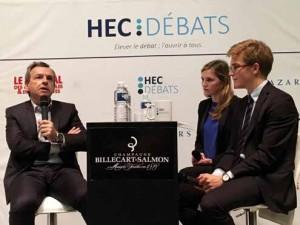 Alain Weill, Président de NextRadioTV (BFMTV, RMC, BFM Business) a permis un débat passionnant sur les médias au 21e siècle © Matthieu Montjotin