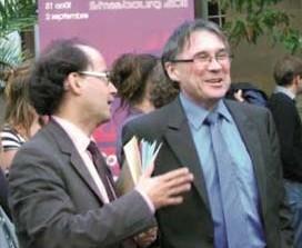 Mr Schirmann, directeur de l'IEP Strasbourg (à droite)