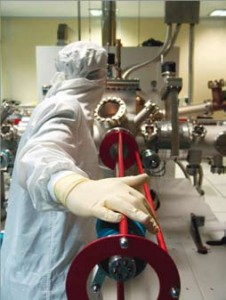 Banc de fabrication en nanotechnologies à l'IEMN (Institut Electronique de Microélectronique et de Nanotechnologie) de Lille 1