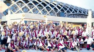 Equipe de France universitaire lors des 26e Universiades de Shenzhen en Chine en août 2011