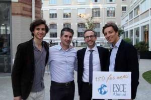 Christophe Arnoux, président d'ESCE Alumni, il est Directeur général adjoint Stratégie & Leadership chez Terre de Sienne (avec la cravate). © ESCE Alumni