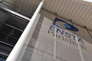 La façade du nouveau bâtiment de l'ENSTA ParisTech à Palaiseau