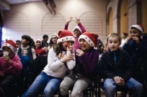 Des enfants heureux lors des redistributions