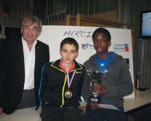 Remise des prix du tournoi des Petits Ducs à Dijon (mars 2013)
